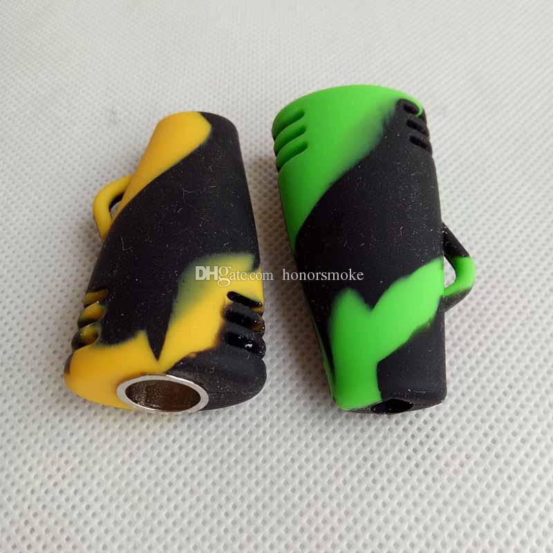Neueste 51mm Farbige Silikonpfeife Mit Metall Schüssel one hitter Hand Tabakpfeifen Trockenen Kraut Für Zigarettenrauchen Werkzeuge Zubehör