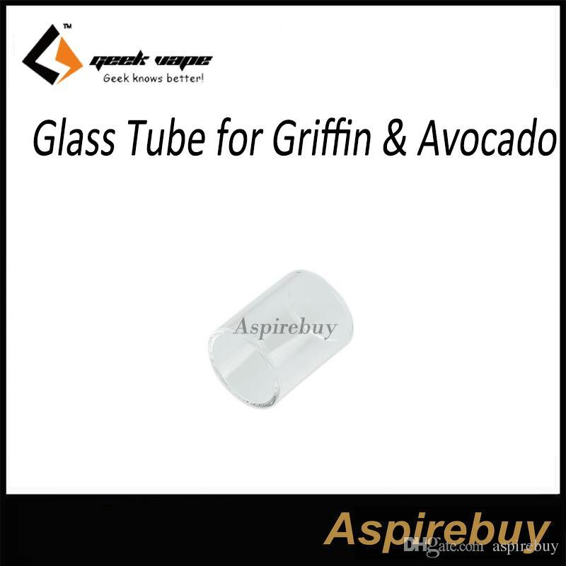 100% Original Geekvape Glass Tube for Griffin Avocado Tank RTA Replacement Pyrex Glass Tube for Geekvape GF RTA Avocado Atomizer DHL Free