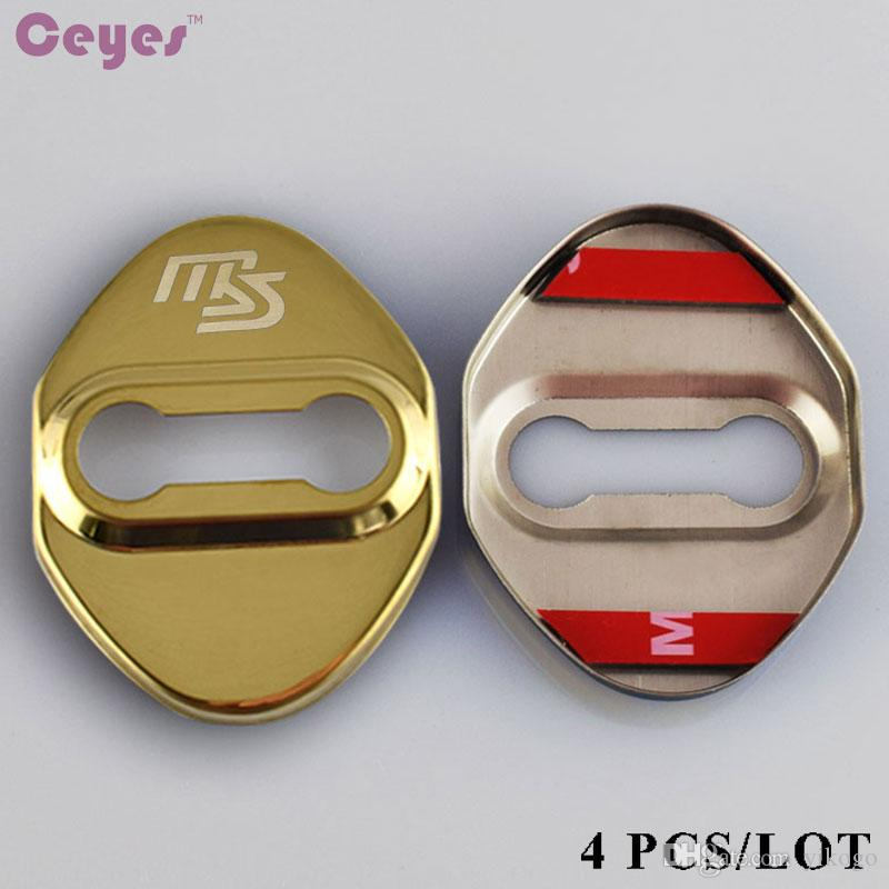Car Door Lock Cover for Mazda MS Badge for Mazda 3 6 cx-5 2 cx7 929 626 Gold Black Car Styling