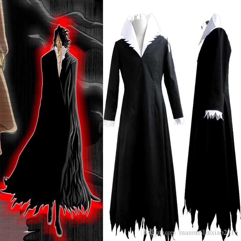 6a9d714cf HOT Popular Tensa Zangetsu Bleach Anime Cosplay Costume For Unisex Adult  Size S 3XL Black Kimono Halloween 5 Person Halloween Costume 6 Person  Halloween ...