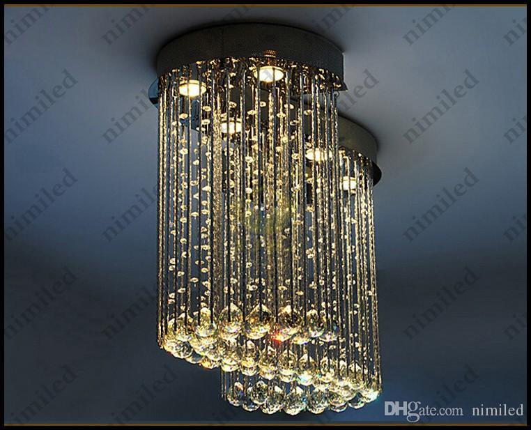 nimi704 L80cm / 100cm Moderne Pendelleuchten Wohnzimmer Lichter Kristall Kronleuchter S-förmige Innenbeleuchtung Für Bar Schlafzimmer Flur Restaurant