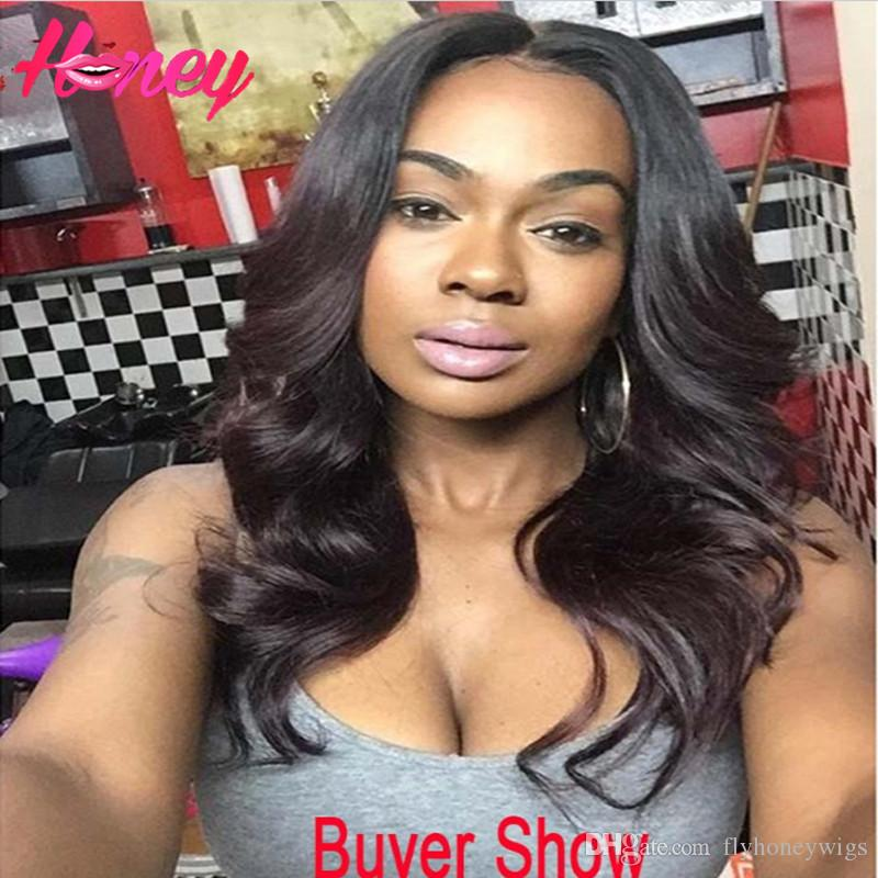 Brazilian Full Lace Human Hair Wigs For Black Women MIddle Part Body Wave Glueless Full Lace Wigs Lace Front Wig With Baby Hair