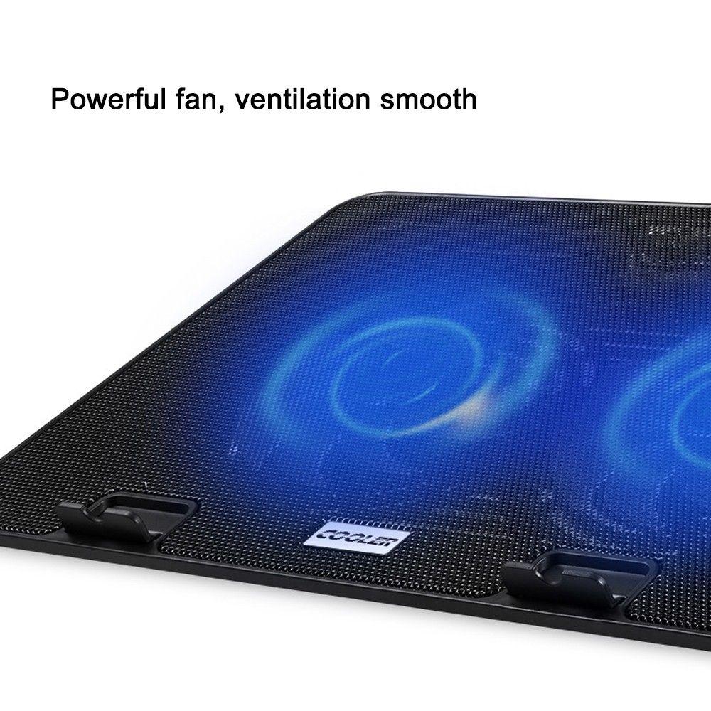 Laptop Cooling Pads USB Interface Stand para Laptop Cooler Notebook Stand Laptop Cooling Pad Radiador Dos grandes ventiladores de alta calidad