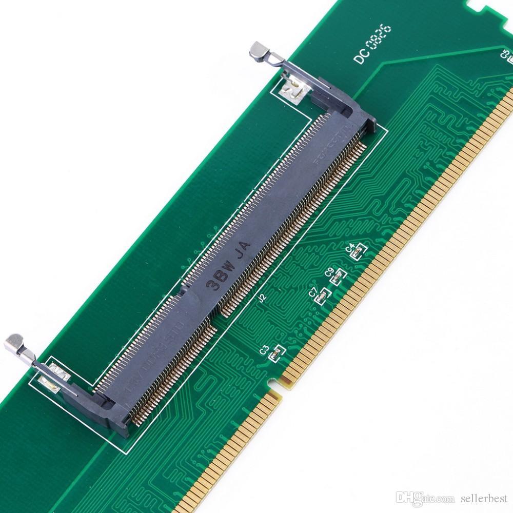 DDR3 Laptop SO-DIMM auf Desktop DIMM Speicher RAM Anschluss Adapter Schutzkarte DDR3