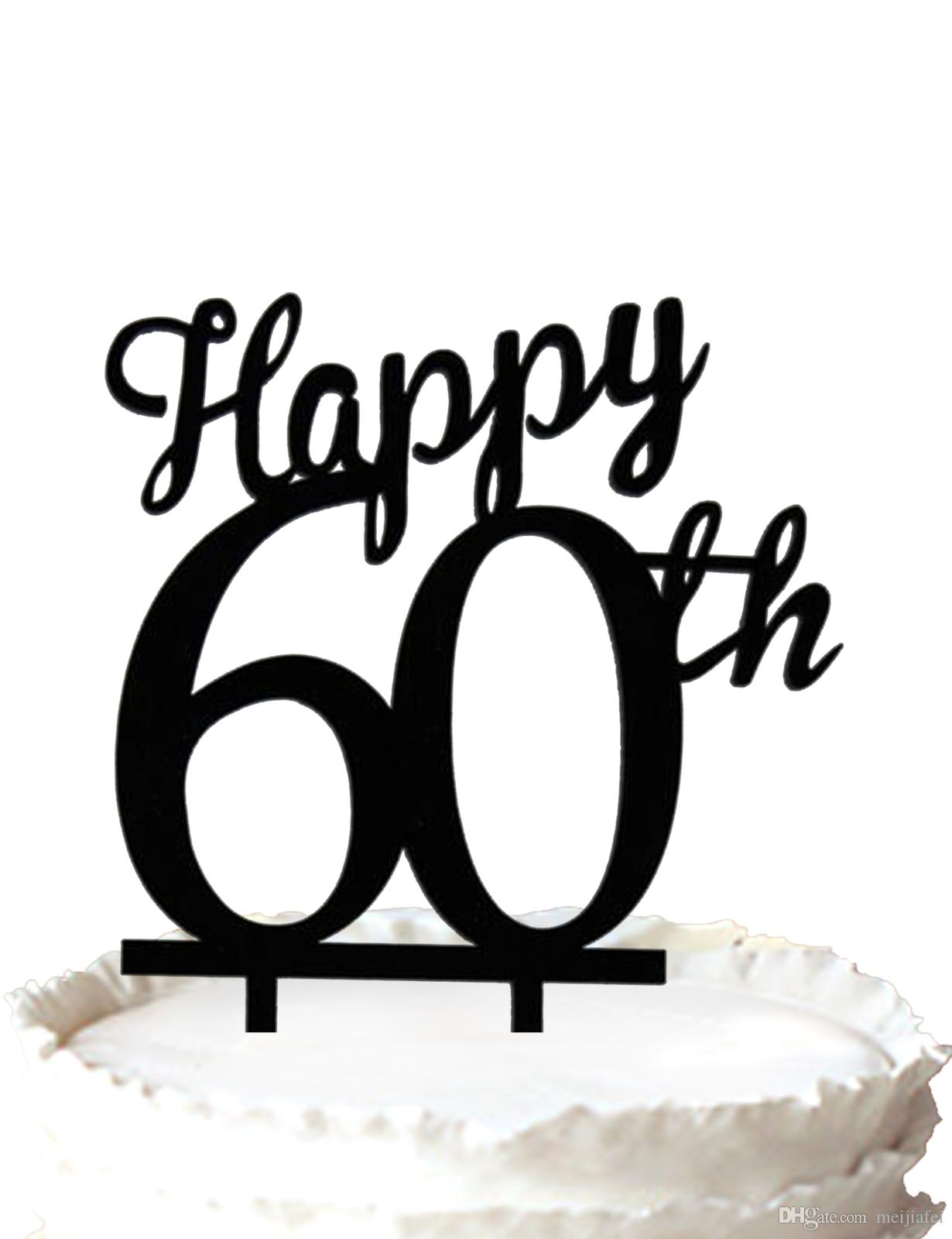 2018 Happy 60th Cake Topper 60 Years Anniversary Cake ...
