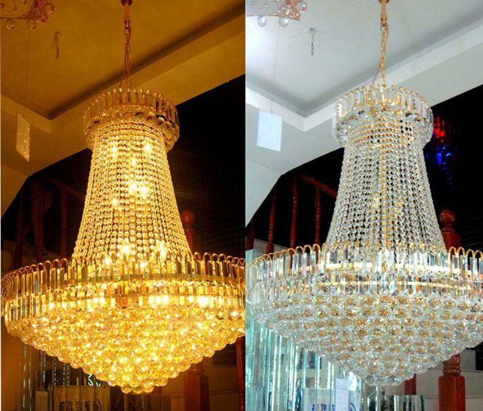 ¡¡¡Precio de fábrica!!! Barato New Royal Empire Golden Crystal chandelier Light French Crystal Techo Luces colgantes DHL Envío rápido