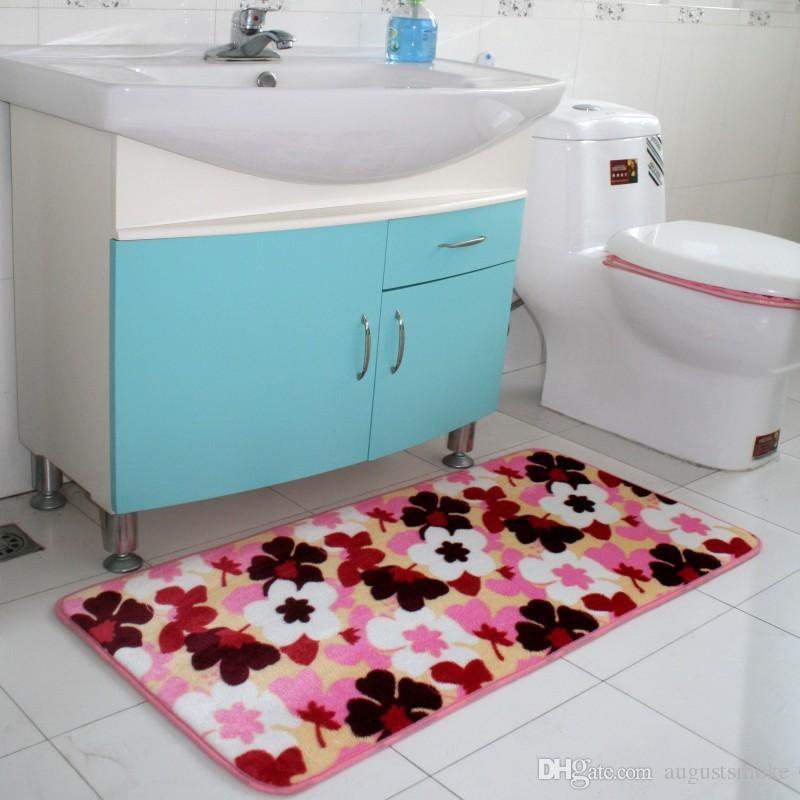 40CM * 60CM maison memoryfoam molletonnée absorbant l'eau antidérapante rebond lent tapis de velours tapis de flanelle tapete