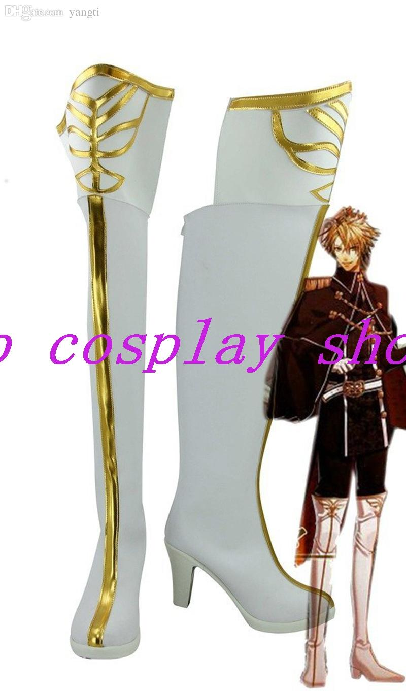 Amnesia World TOMA SHIN KENT UKYO IKKI Cosplay Shoes White Boots Custom Made