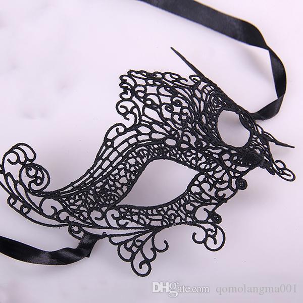 Masque de mascarade sexy dentelle broderie masques pour les yeux sexy pop noir tissé masque noir visage dentelle parti personnalisé halloween voile