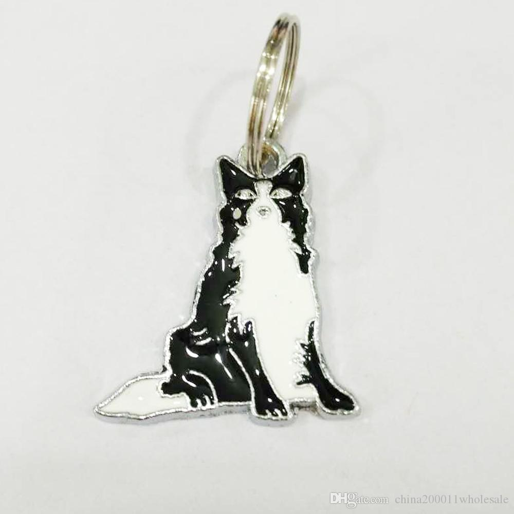 Zhonguanty Huskie Dog Pendants Hang Charms With Open Jump Rings Split Rings Fit For DIY Key Chain Keyrings Pet Collar Jewelry Making LH500