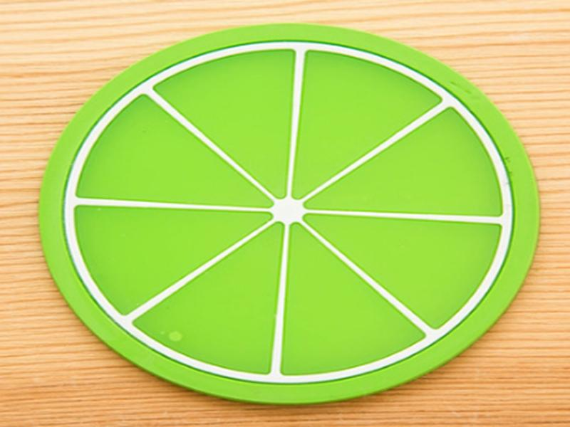 Fast shipping 9Cm Cute Fruit Coaster Colorful PVC Tea Cup Drinks Holder Mat Placemat Pads