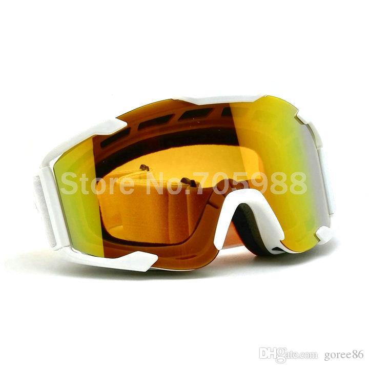 Super motorcycle Goggles Sport Racing Off Road Oculos Gafas Motocross Goggles Glasses for Motorcycle Dirt Bike White frame