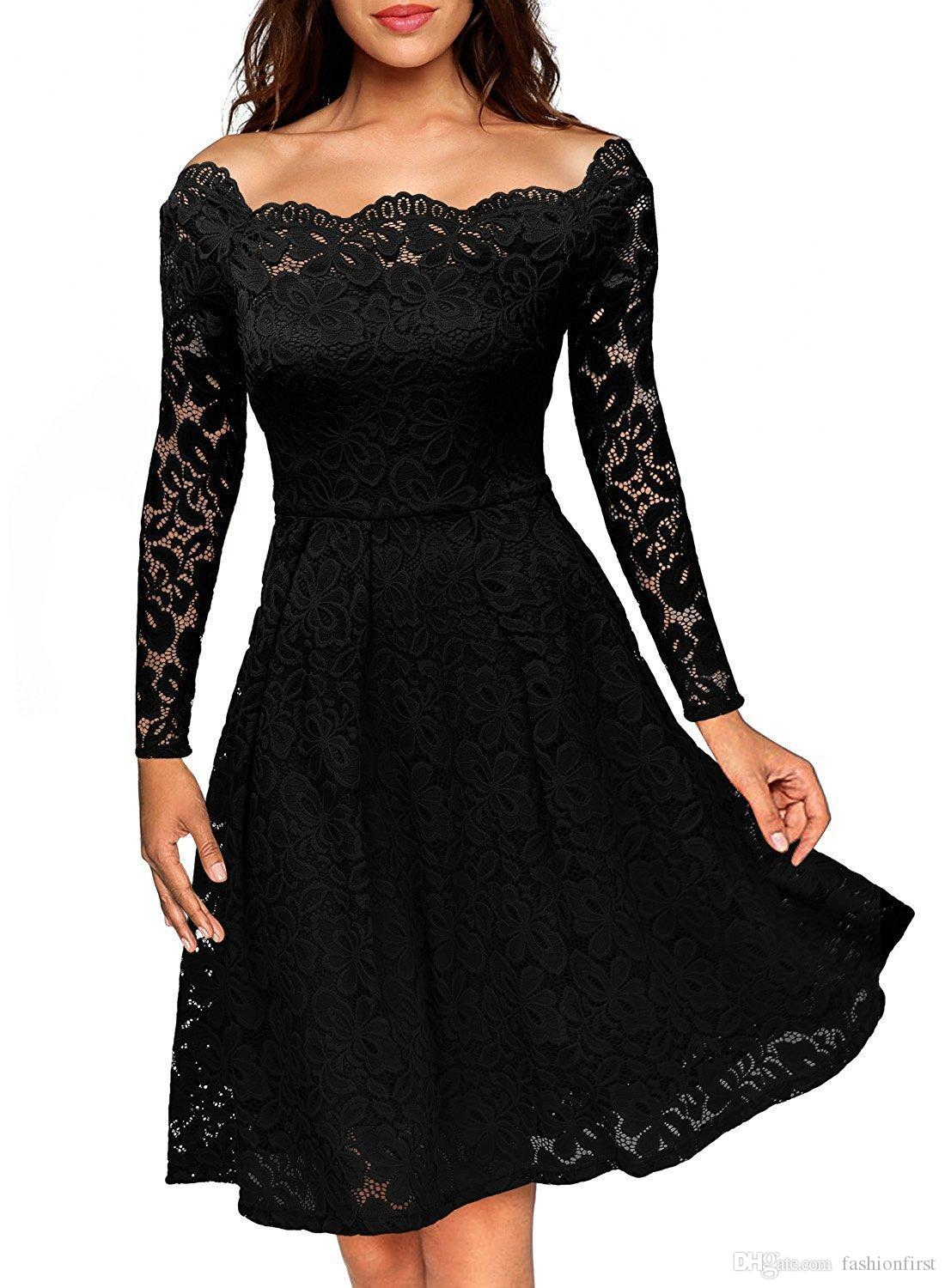United Womens Dresses Hollow-out Sequins Star Print A Line Dress Mesh Pleated Elegant Black Layer Party Dress Women's Clothing