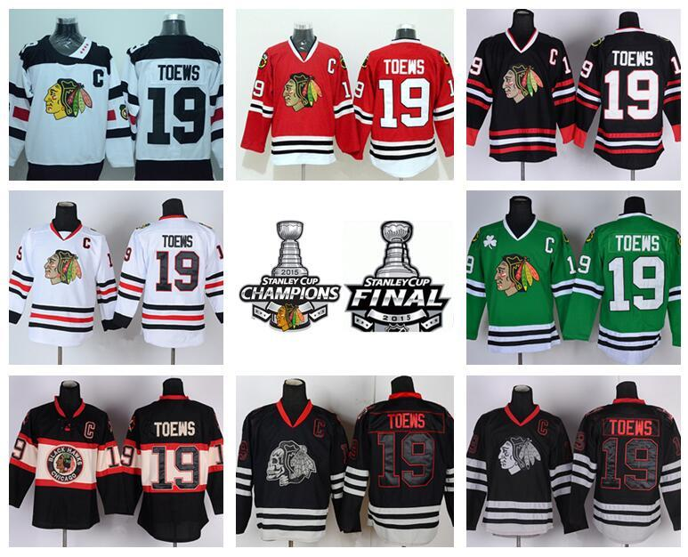 b3140150a6c 2019 Best 19 Jonathan Toews Jersey Chicago Blackhawks Winter Classic Ice  Hockey Sports Home Red Alternate White Green Black Skull From  Top_sport_mall, ...