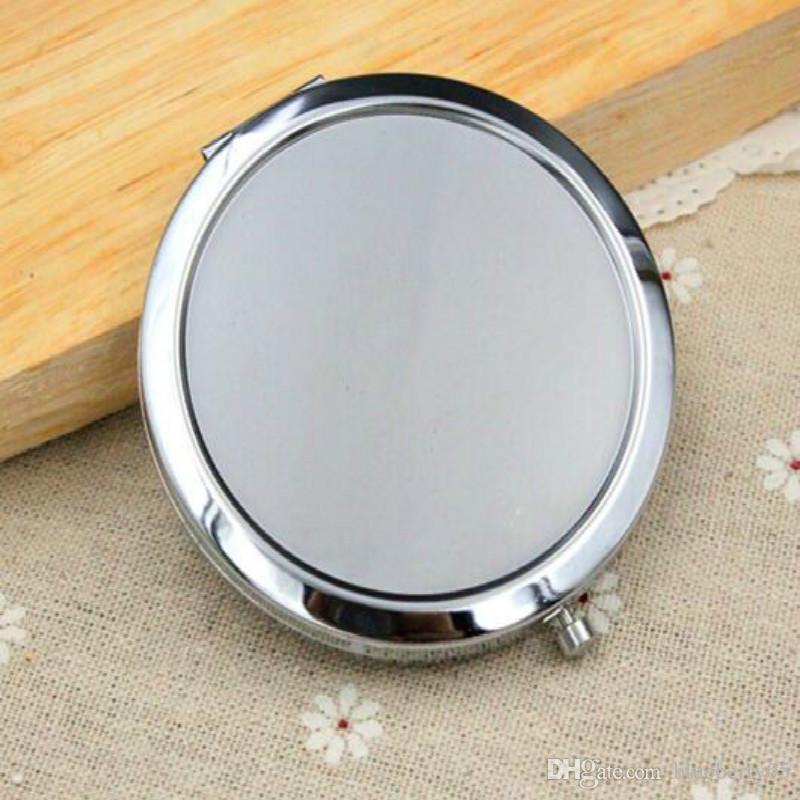 Wholesale Circle Blank pact Mirror Silver Makeup Tools