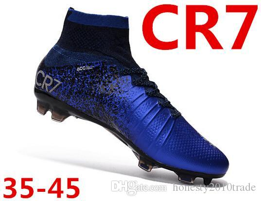 Hot Sell 2016 Mens And Womens CR7 NATURAL DIAMOND Color TPU Nail Mercurial  Superfly CR7 FG Soccer Boots Cleats Size 35 45 Drop Shipping UK 2019 From  ... 92ddfa6a6ac7