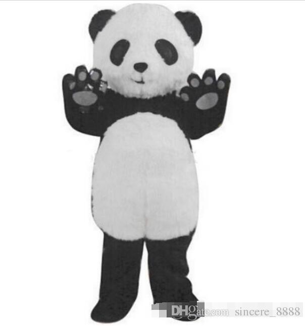 2fab487edab78 Free Shipping New Panda Mascot Costume Fancy Dress Adult Size : S M L XL XXL