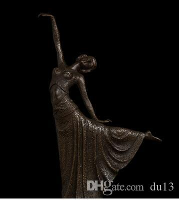 Vintage CRAFTS ARTS bronze dancer statues art deco statue home decoration accessories figuine antique vintage Christmas gifts