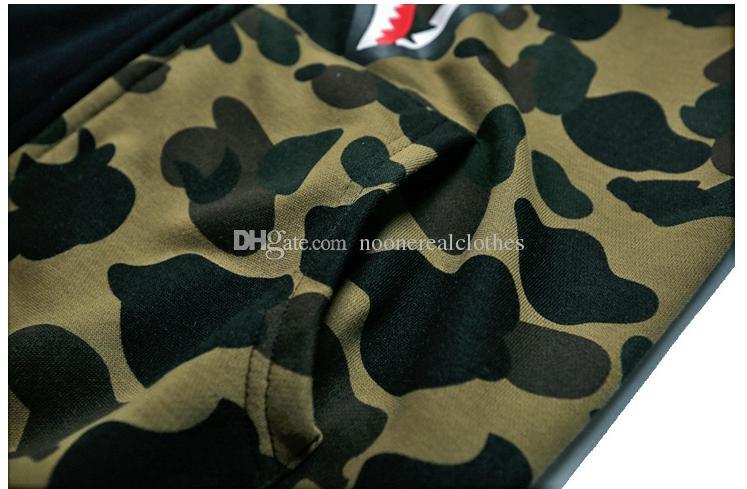 Erkek kadın Aşk Sportwear Coat Jogger Eşofman Fermuar Polar Kazak Crewneck Kuş OVO Drake Siyah Hip Hop Hoodie Erkekler Shark ağız Styssa