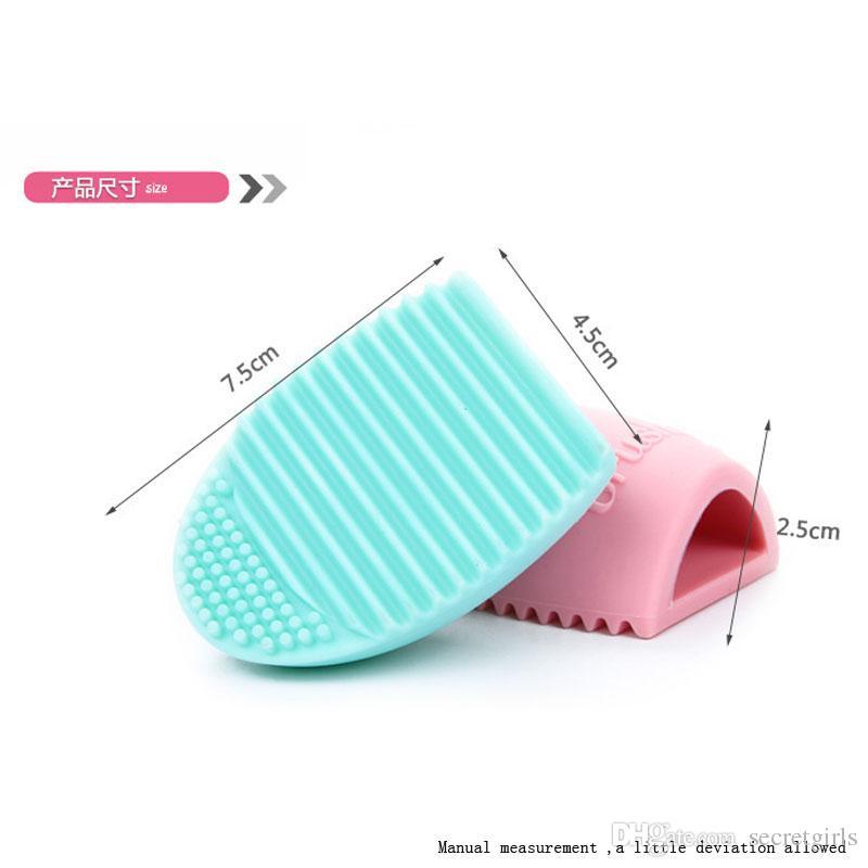 Brushegg Clean Bürsten Make-up Wash Brush Silica Glove Scrubber Board kosmetische Reinigungs-Tools Made Schönheit für Make-up Pinsel