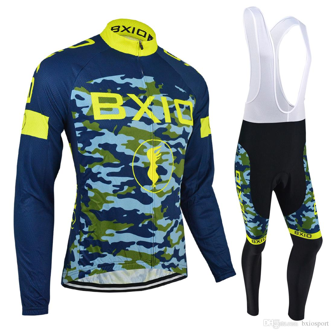 2bda59021 BXIO Brand Cycling Jerseys Men Long Sleeve Winter And Autumn Bicycle ...