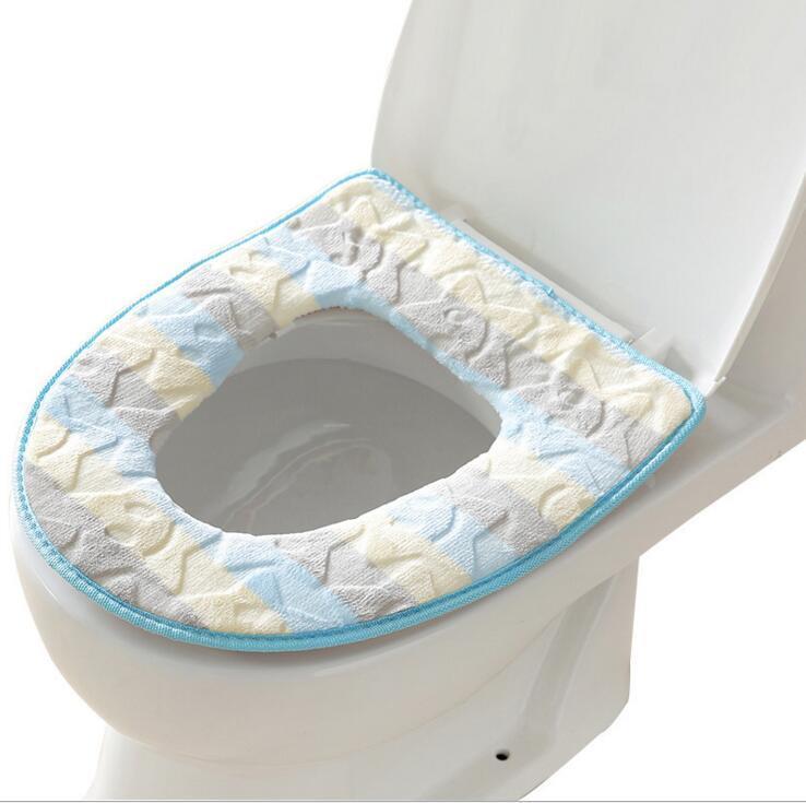 милый моющийся теплее туалет чехол для ванной товаров утолщаются мягкий поддон ножки, o-образный флеш удобное сиденье для унитаза пальто