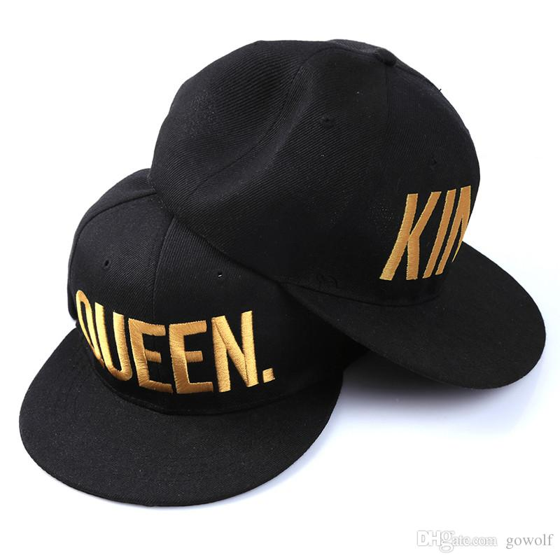 b3e03b1a67a 2019 Fashion KING QUEEN Hip Hop Baseball Couple Caps Embroider Letter  Lovers Adjustable Snapback Sun Hats For Men Women Climbing Cap From Gowolf