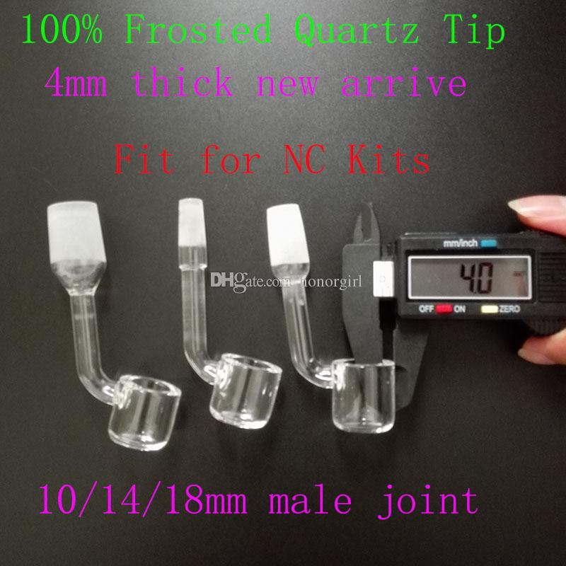 4mm thick New Quartz Tip For 18/14/10mm Male Joint Quartz Banger Nail also offer titanium ceramic glass nail