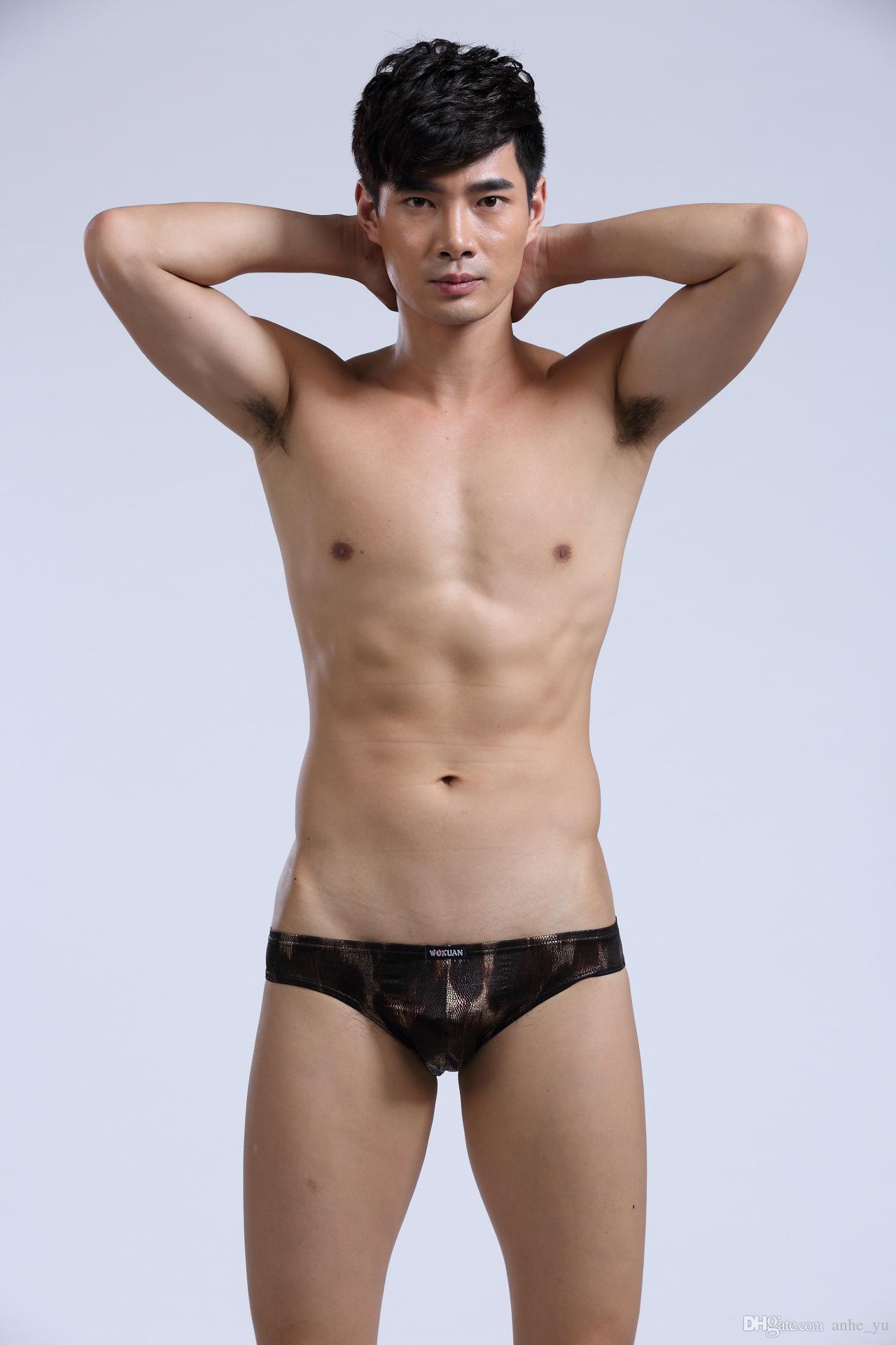 Hot Sexy Men Snake Briefs cintura baja ropa interior transpirable pantalones cortos ropa interior ropa interior erótica Club desgaste G-string alta calidad FX11