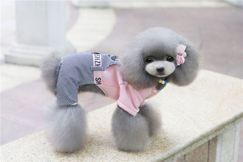 A11 cão Fleece Camisolas / w calças de Brim Listradas calças para 4 pernas -Moustache design pet roupas de animais de estimação cão de inverno roupas quentes