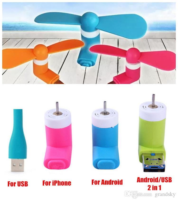 Hot Mini USB Fan Pocket USB Gadget Portable Summer Micro USB Cooling Fan For Iphone Android OTG Phones Power Bank Laptop