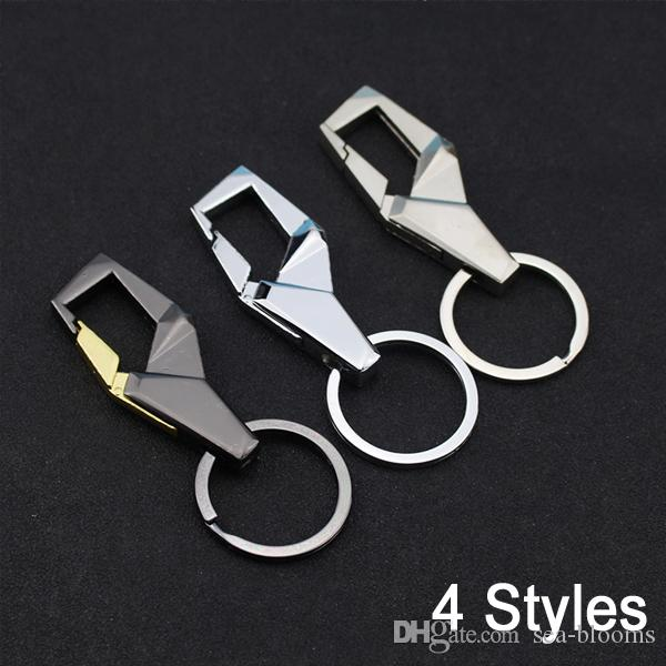 Stainless Steel Men Keychain Business Gift For Men Car Key Chain Waist Belt Clip Holder Key Car Keychain 4 Styles B598Q