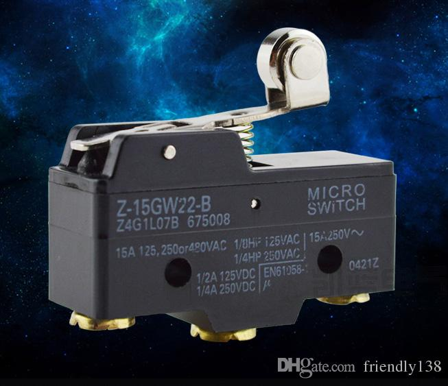 Micro Switch Model Z-15GW22-B Limit Switch Travel Switch Good Quality guarantee Silver Alloy Contacts with Roller arm