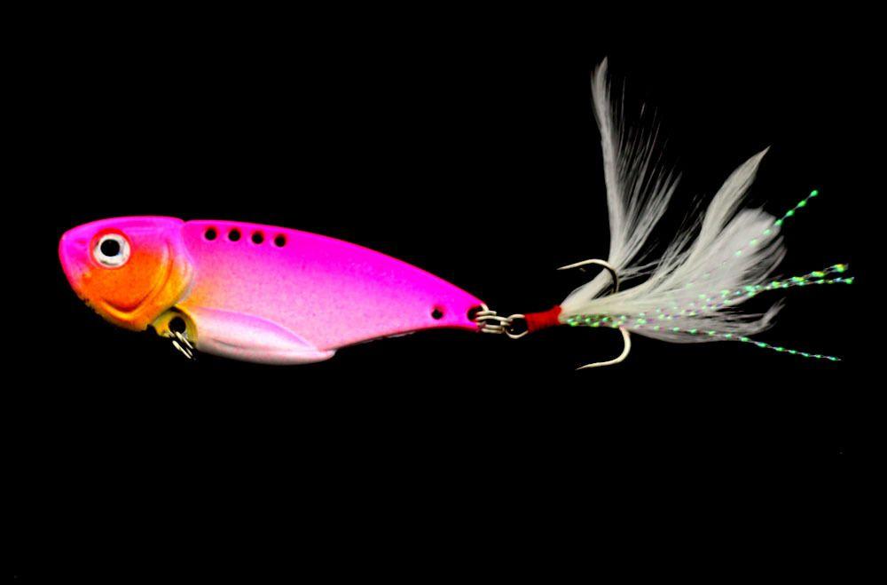 di richiamo di pesca del metallo con la piuma bionico artificiale difficile Wobbler dell'esca di pesca pesca affrontare ganci