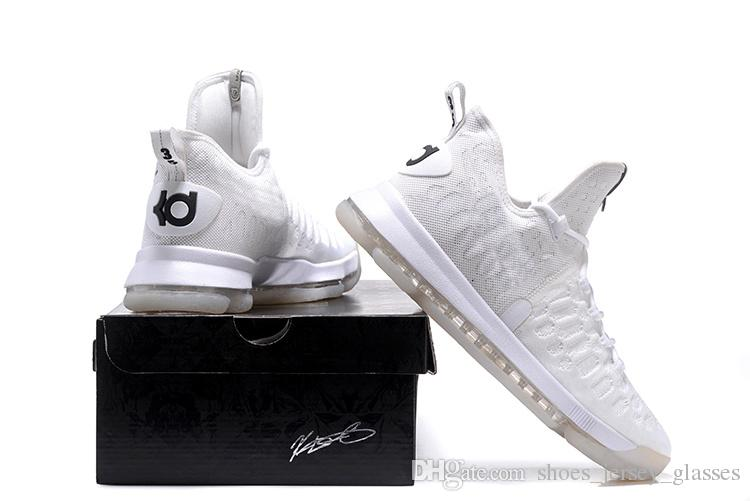 sports shoes df0e3 c9df9 cheap kd 9 all white af98c 95bf8