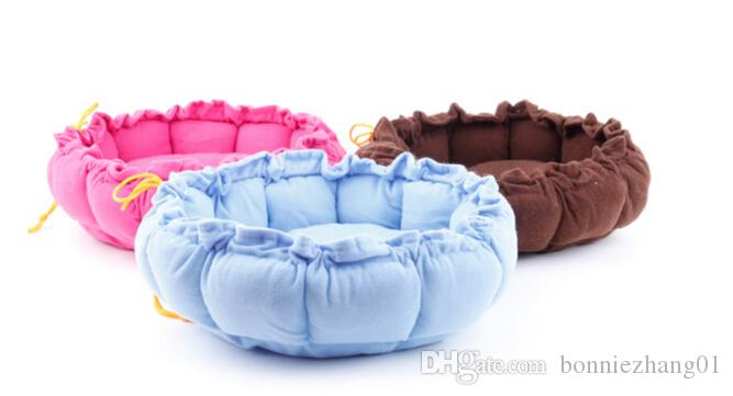 Colorful Cat Puppy warm pumpkin Beds Comfortable Pets Dog Kitten Beddings House Nest Pad Soft Fleece Bed Home&Garden Products
