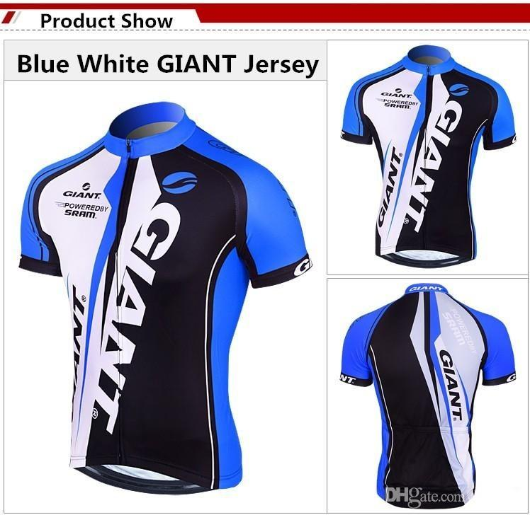 Blue Giant Team Cycling Jerseys for Men Ropa Ciclismo Breathable Racing Cycling Suits Short Bicycle Shirts High Quality Padded Pants Cheap