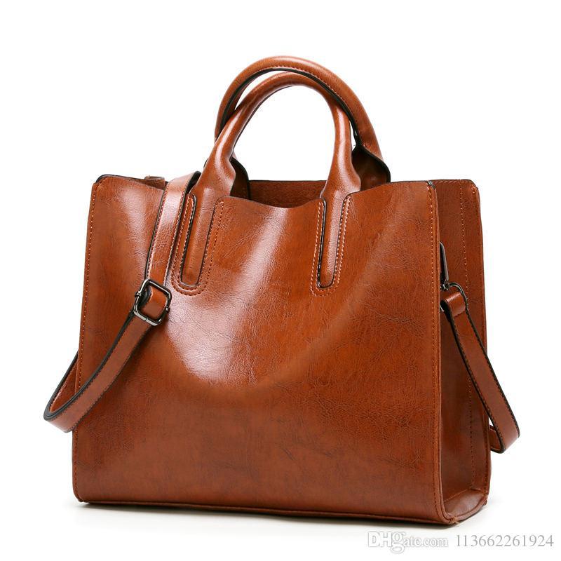 0e6959320d Vintage Large Capacity Leather Tote Bag Black Designer Handbags Shoulder  Bags For Women Designer Bags On Sale Laptop Bags For Women Duffel Bags From  ...