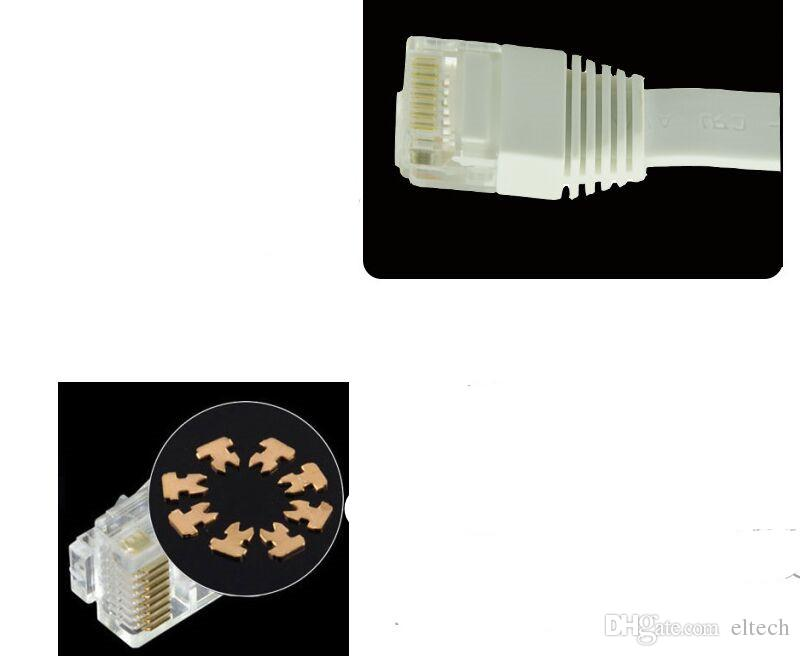 CAT5 Flat Ethernet Cable 100Mbps CAT5 RJ45 Networking Ethernet Patch Cord LAN Cable for Computer Router Laptop