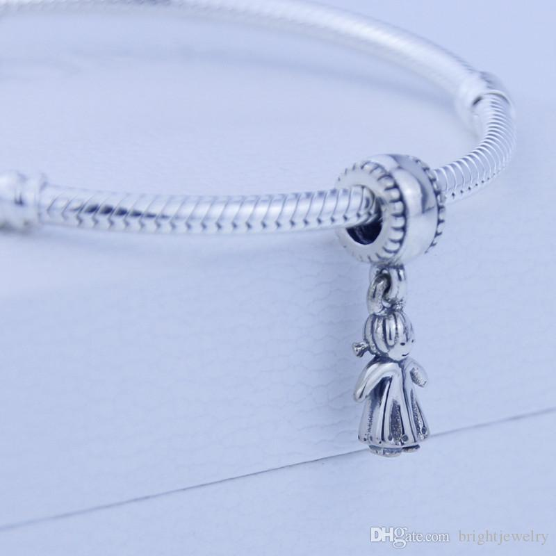 Fits for pandora Charms Bracelet 925 Silver fashion Threaded Charms Diy Jewelry wholesale Cute Beautiful girl Kids Bead Bracelet