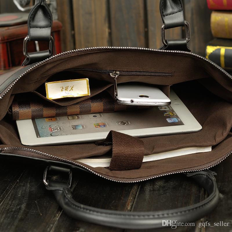 Gerçek Deri Çanta Sırt Çantası Marka Tasarımcı Çanta Crossbody Messenger İş Vintage Çantası Koleji Çalışma Çantaları mens