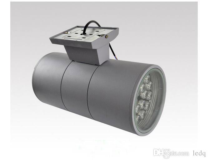 36 watts LED mur lampe de montage UP DOWN côté cylindre de lumière en aluminium Columbia extérieur étanche IP65 Spot Lights Lampara rouge vert