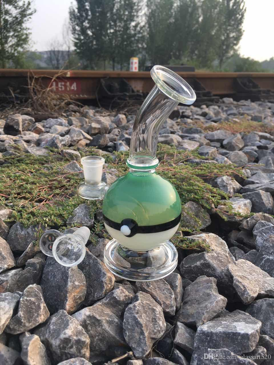 """2016 October Newest glass Bongs 8"""" 2016 brand new jamaican american 8""""glass bong 14mm glass oil rigs."""