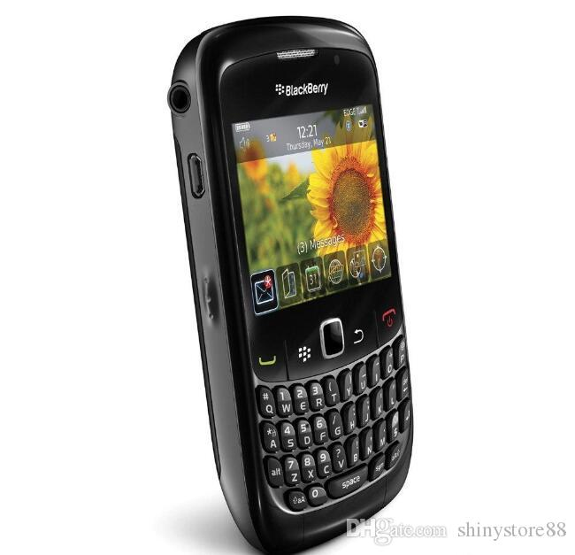 Refurbished Original Blackberry 8520 Curve Unlocked Cell Phones 2.46 Inch 2MP QWERTY Keyboard WIFI 2G GSM