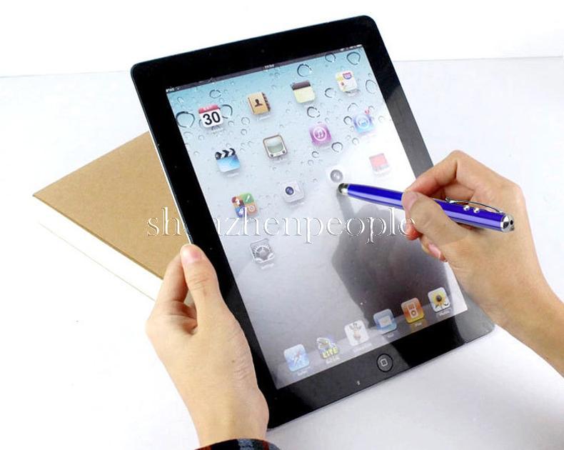 4 en 1 pointeur laser torche LED écran tactile stylet stylo à bille pour téléphone mobile Drop Shipping gros