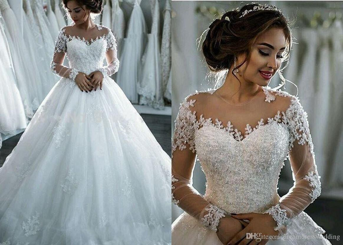 Outstanding Berta Long Sleeve Lace Wedding Gown Elaboration - All ...