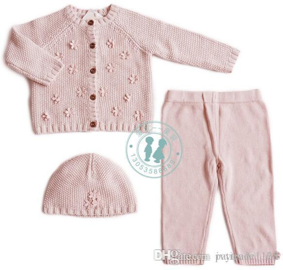 9216dc875e0d 2019 Ins Kid Fashion Girl Sets Baby Girl Fall Winter 100% Cotton ...