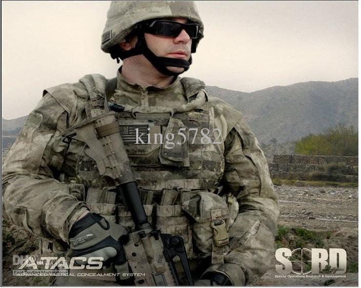 El traje de camuflaje A-TACS establece un uniforme militar uniforme de combate Airsoft uniforme / ropa de caza al aire libre