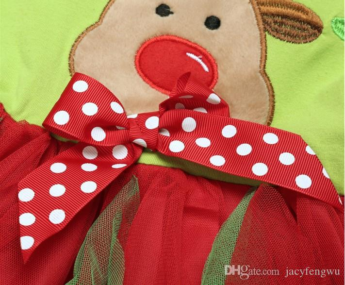 Christmas baby girls dress sets tutu skirts+stripe leggings kids sets children cotton Snowman suits baby sets dress+pants pack SDF004