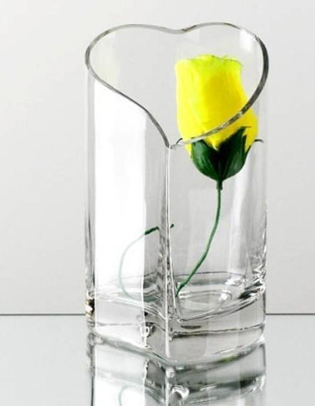 Herz Transparent Glasvase Mode Design Herz Stil Diy Design Dekor Glas Topf Desktop Dekoration Dekoration Vase